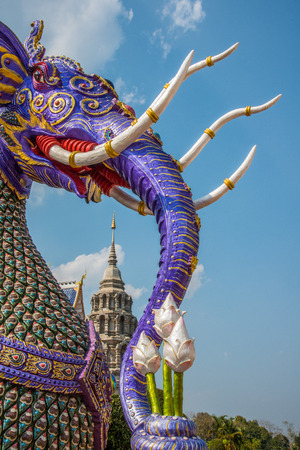 exquisite fairy: Elephant in Thai traditional fairy tales as part of Thai Buddhist temple.