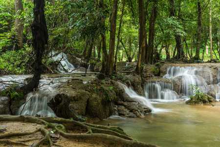 Kroeng Krawia Waterfall in  Khao Laem National Park of Kanchanaburi, Thailand