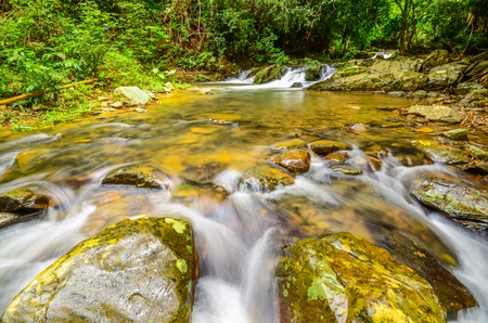 carnal: Waterway from waterfalls in natural public park in Thailand Stock Photo
