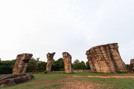 Mo Hin Khao, stonehenge, the travel destination in public park in Chaiyaphum, Thailand