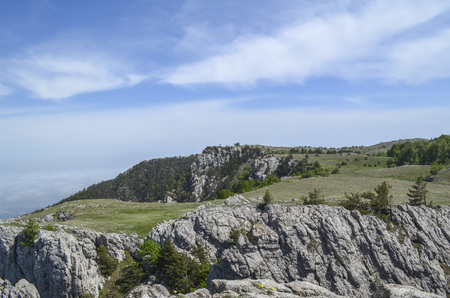 The tops of mountains of Crimea. The month of May