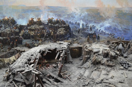 Crimea, Sevastopol - May 16.2012: battle on Malakhov Hill June 6, 1855. On this day 75000th Russian army successfully repelled the onslaught 173,000th Anglo-French troops.