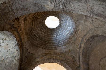 Interior of ancient Byzantine Greek Church of Saint Nicholas the Wonderworker located in the modern town of Demre, Antalya Province, Turkey Editorial