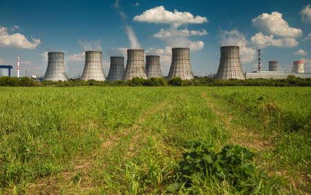 landscape photo of a nuclear power plant