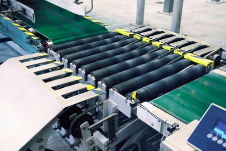 landscape photo of a packaging line conveyor Standard-Bild