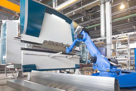robot arm installation for bending of metal