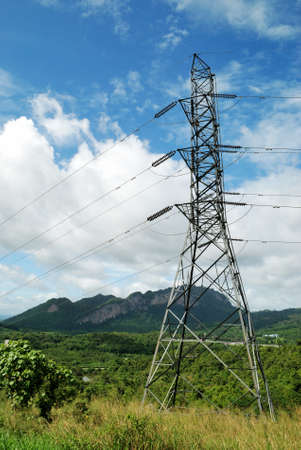 High voltage post in Rutchapapa dam photo