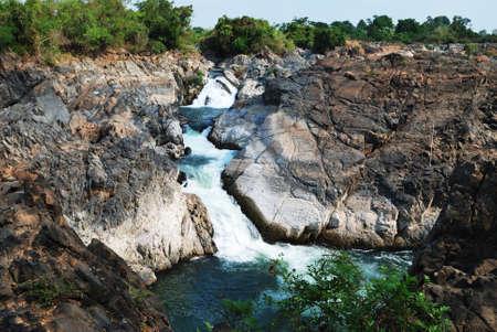 khong river: Great flowing waterfall at river Khong