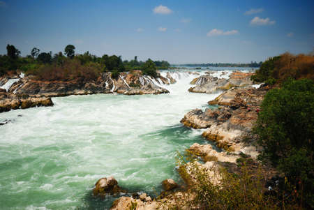 greatest: The greatest waterfall in Laos, Khon-Pa-Peng Stock Photo