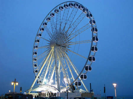 recently: The recently built Ferris Wheel in Brighton.