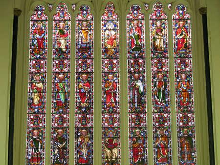 clergyman: A Close up of a Church window.