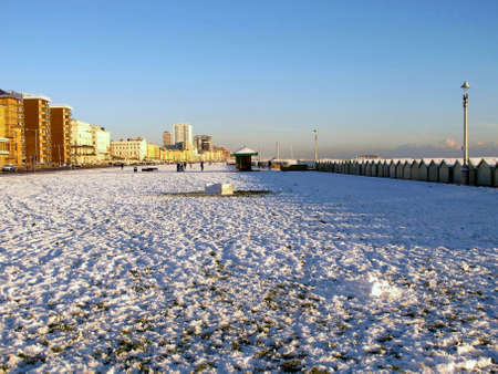 Snow by the Sea. photo