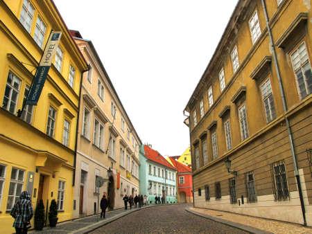A Backstreet in Praha Prague, Czech Republic.