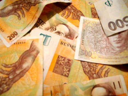 koruna: A Photo of Czech Koruna Currency.