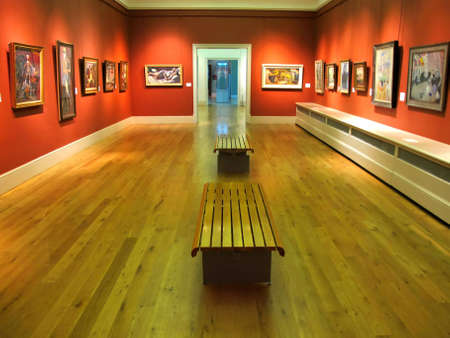 art exhibition: An Inside View of Brighton Museum, England, UK.