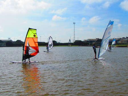 windsurfers: Windsurfers on the Water
