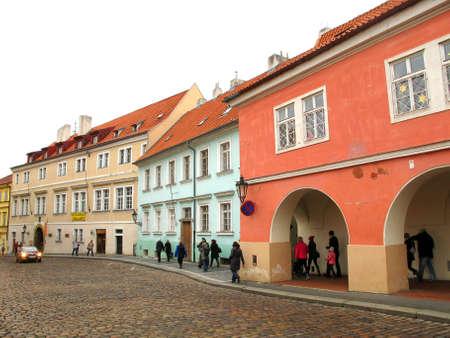 backstreet: Una vista de un Backstreet en Praha, Praga, Rep�blica Checa Editorial