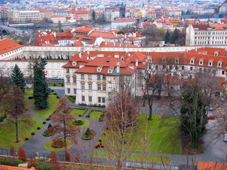praha: A Garden in Central Praha, Prague, Czech Republic, Editorial