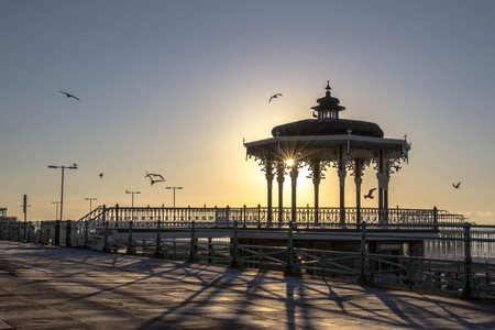 bandstand: Victorian Seaside Bandstand Stock Photo