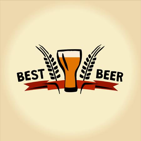 just best beer. Illustration for men Illustration