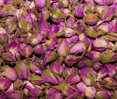 background of turkish traditional rose tea