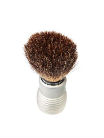 shaving brush cutout on white