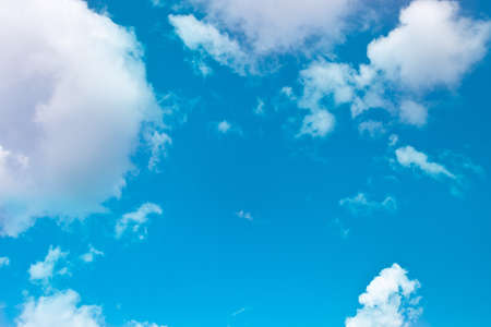 puffy clouds on the blue sky Stock Photo