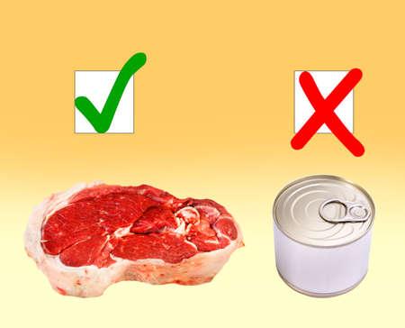 buen vivir: Alimentos naturales frente a conserva en lata