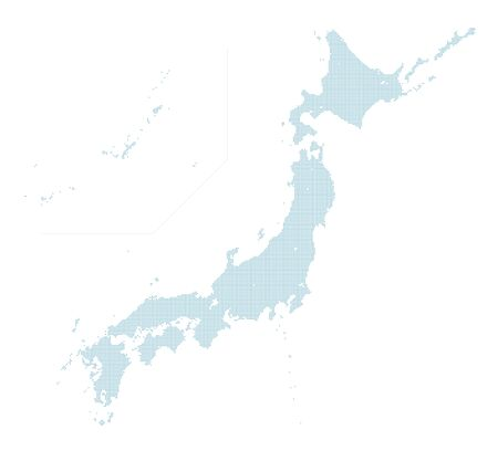 blue dotted Japan map Illustration