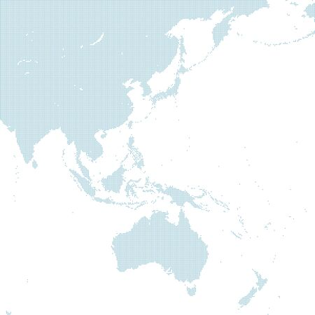 blue dotted East Asia map