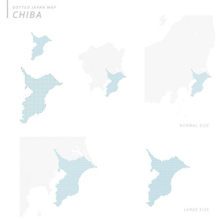 Dotted Japan map set, Chiba