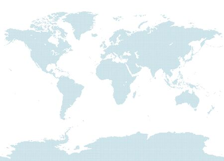 dotted blue world map with Antarctic