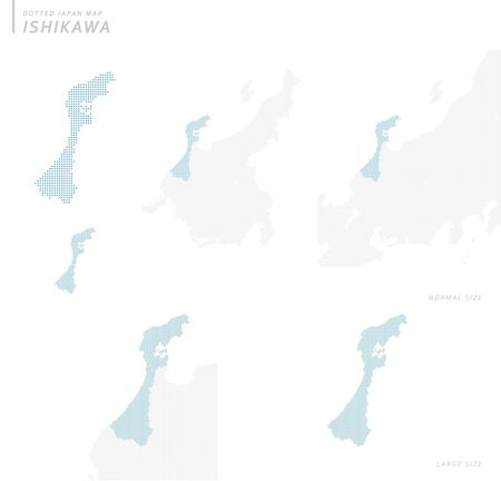 doted Japan map set, Ishikawa