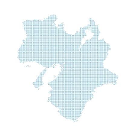 doted Japan map, Kansai region