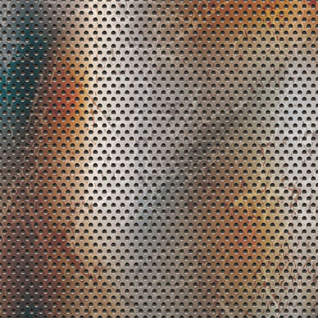rusted punching metal background, vector illustration. Vectores