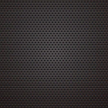 lighting black punching metal background. vector illustration. Illustration