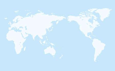 simple world map, light blue background