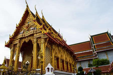 samutprakarn: The Thai Buddha temple at Samutprakarn in Thailand