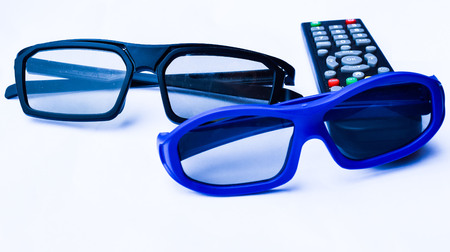 3d glasses isolated on white background Stock Photo