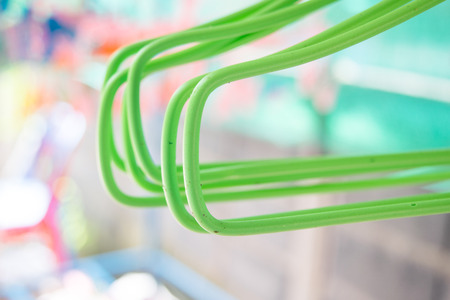 hangers: colorful coat hangers Stock Photo