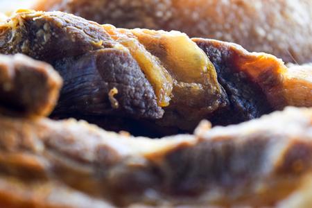 close up Crispy fried pork cooked hot