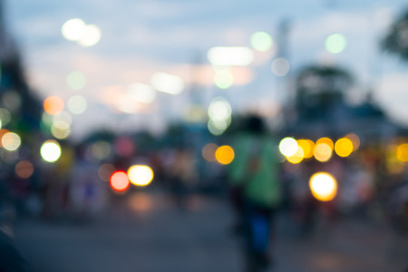 blurred with bokeh in thailand market