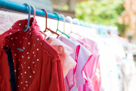 swaddle: dry clothes in the sun Stock Photo