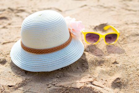 suncare: Beach accessories with straw-hat,Sun glasses