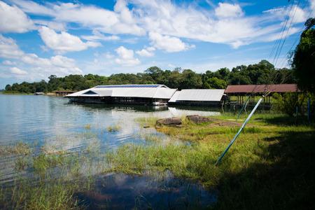 landscape of floating house on river side Reklamní fotografie