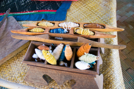 wooden sewing accessories thai style