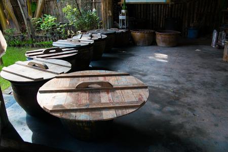empty wooden house in thailand Reklamní fotografie