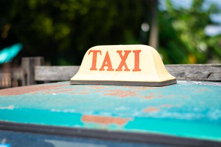 old taxi car roof sign