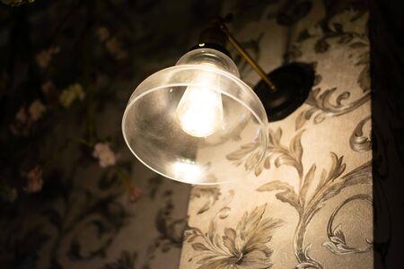 modern lamp in restaurant Reklamní fotografie