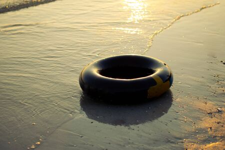 swimming ring on the beach